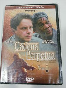 Catena-Perpetua-DVD-Tim-Robbins-Morgan-Freeman-Castellano-English-Nuovo