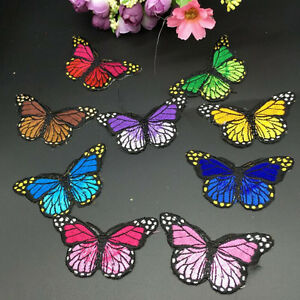 Pretty-Cloth-Sew-DIY-Patch-Embroidered-Butterfly-iron-on-Appliques-scrapbook-Lt