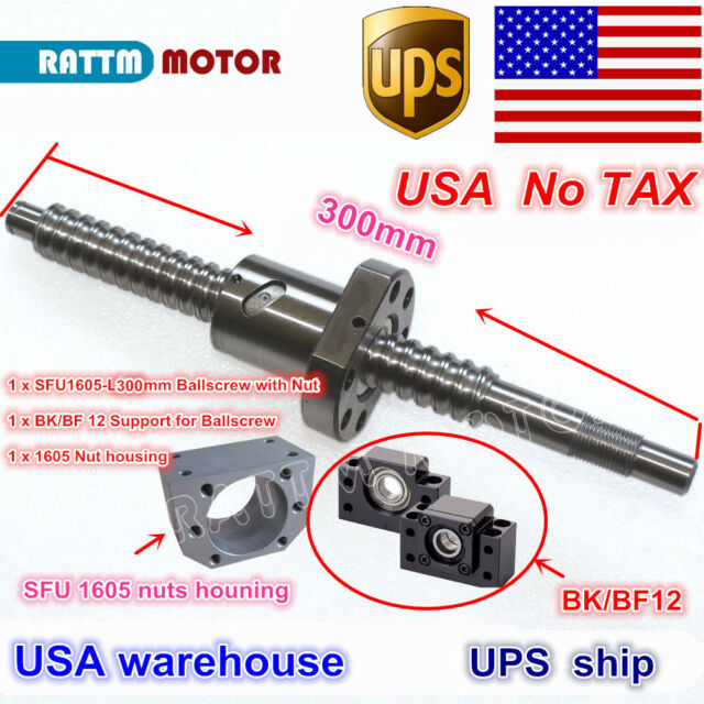 SFU1605 L1000mm Rolled Ball Screw C7 with BK//BF12 End Machined CNC NEW