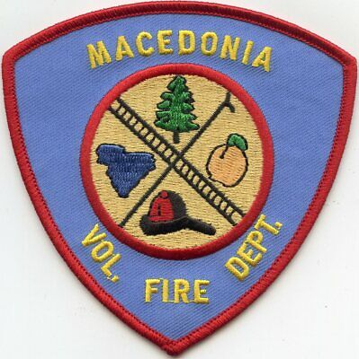100% Wahr Mazedonien South Carolina Sc Volunteer Fire Patch