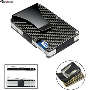 Men-RFID-Blocking-Slim-Money-Clip-Wallet-Credit-ID-Card-Holder-Thin-Minimalist