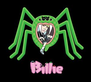 Billie Eilish Spider Hoodie or Tee Heavy Blend Black or White Unisex