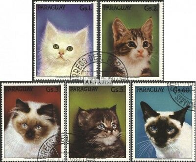 complete Issue Dashing Paraguay 4334-4338 Used 1989 Cats Factories And Mines