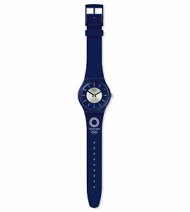Swatch-Tokyo-2020-Olympics-Wrist-Watch-MEDARU-NAVY-2019-Summer-Japan-Limited-F-S