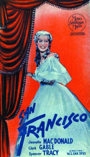 San Francisco Clark Gable Jeanette MacDonald poster