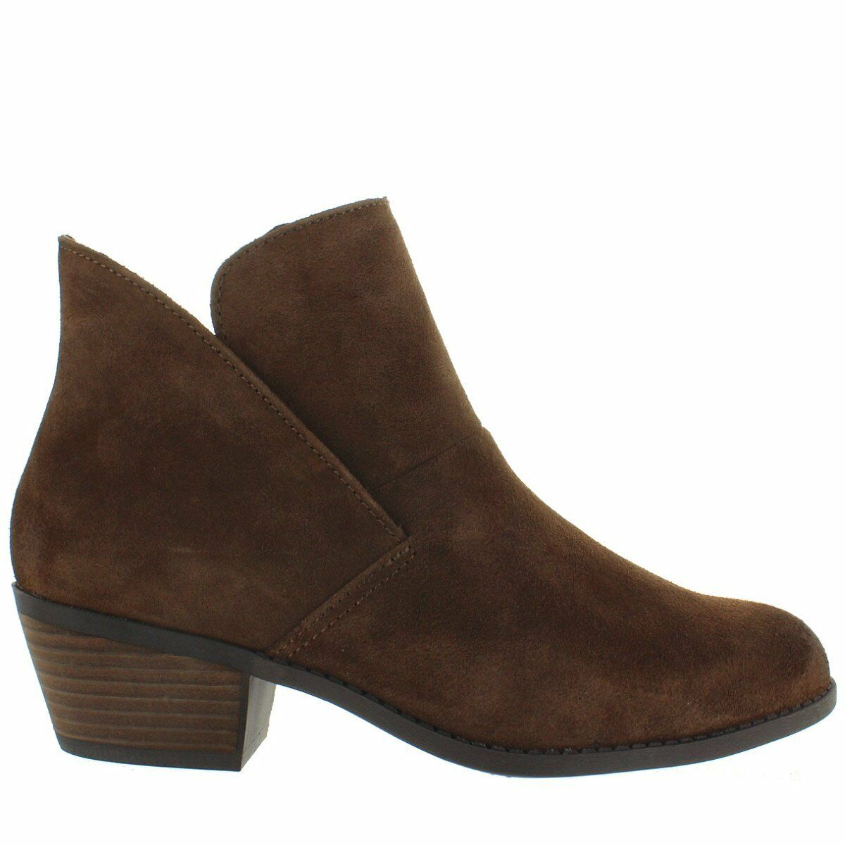 Me Too Zena - Acorn Suede Short Pull-On Western Bootie