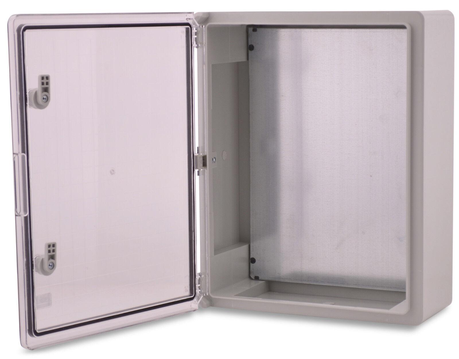 Boxexpert Placard-Boîtier série Fleet 500x400x175mm IP 65 65 65 Transparent Gris e6a562