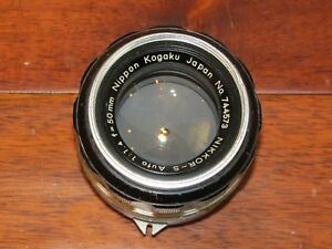 Nikon-Nippon-Kogaku-Nikkor-S-Auto-50mm-1-1-4-F-1-4-Non-Ai-MF-Fixed-Prime-Lens