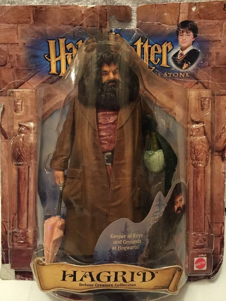 Harry Potter & the Sorcerer's Stone Hagrid Figure 2001 With Norbert First Movie