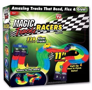 Magic-Tracks-220-Piece-Glow-In-The-Dark-Racetrack-amp-Car-Play-Set-As-Seen-on-TV