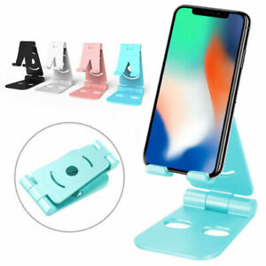 Foldable Swivel Phone Stand Multi Colors for Small Big Smartphones Tablet ABS