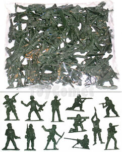 50-pcs-Military-Plastic-Toy-Soldiers-Army-Men-Green-5cm-Figures-12-Poses