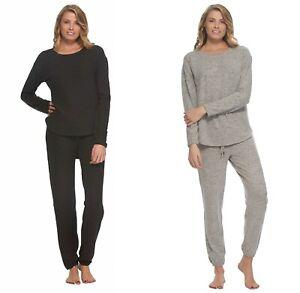 Felina-Women-2-Piece-Comfyz-Lounge-Pajama-Set-Crewneck-Top-amp-Jogger