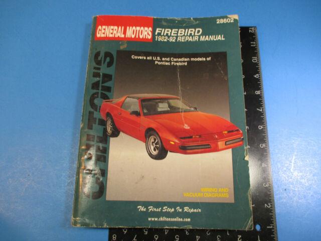 Chilton U0026 39 S General Motors Firebird 1982
