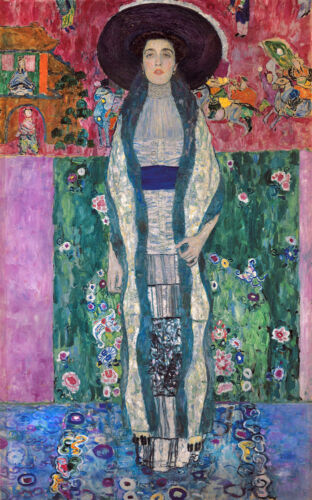 Gustave Klimt Portrait of Adele Bloch Bauer Figure Art Giclee Print Fine Canvas