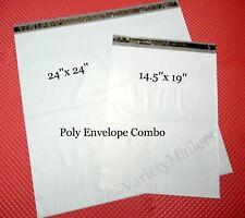 10 Large Poly Bag Mailer Combo 145x19 Amp 24x24 Big Shipping Envelope Bags