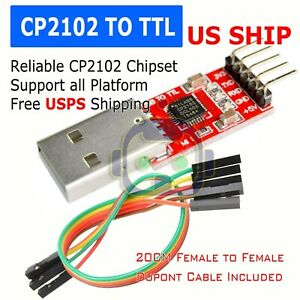 CP2102-USB-2-0-to-UART-TTL-5PIN-Module-Serial-Converter-Adapter-Red-Silver-TS