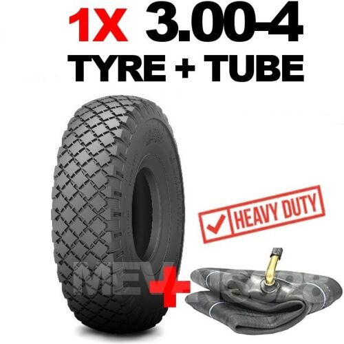 3.00-4 TYRE /& TUBE Heavy duty 200kg @ 60 psi 260x85 trolleys carts sack trucks