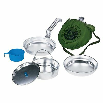New Personal Aluminum MESS KIT Camping Survival Emergency Gear Compact Cookware