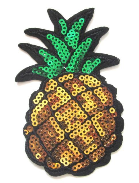Embroidered Fruit Applique Badge Crafts Sew Patches Pineapple Iron On Patch