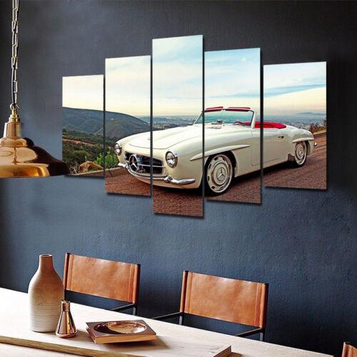 Mercedes-Benz Vintage Classic Car 5 Piece Canvas Home Decor Wall Art Decor