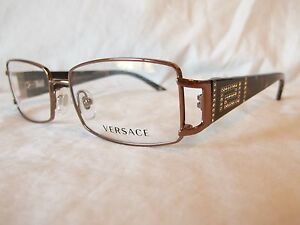 a99bb8c7df8 Image is loading VERSACE-EYEGLASS-FRAME-VE1163B-1013-BROWN-TORTOISE-STONE-
