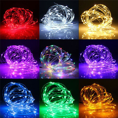 2M/5M/10M 180/50/100 LED Copper Wire Christmas Outdoor String Fairy Light 12V