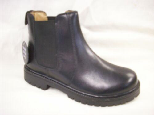 BOYS GIRLS SIZE 8 9 10 11 12 13 1 2 3 PLAIN BLACK SLIP ON DEALER CHELSEA BOOTS