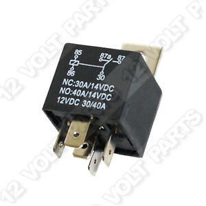 12 Volt 5 Pin SPDT Automotive Relay 30A NC 40A NO 12V eBay