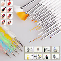 20pcs Nail Art Design Brush Set Dotting Painting Drawing Polish Pen Tools Kit