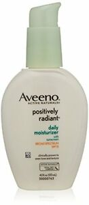 Aveeno Positively Radiant Daily Moisturizer With Sunscreen Broad Spectrum Spf 15, 4 Oz SmartGirl Clay Mask Kit