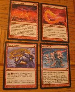 Red-Magic-the-Gathering-Casual-Lot-LP-MP-Coldsnap-Multiplayer-Serpent-Storm