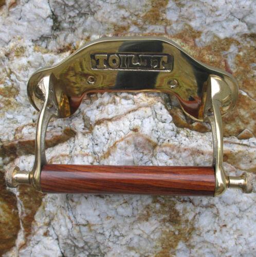 Halter Toilettenpapierhalter Jugendstil Landhaus-stil Messing Gold WC-Rollen
