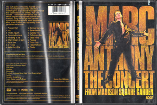 1 of 1 - Marc Anthony The Concert From Madison Square Garden DVD