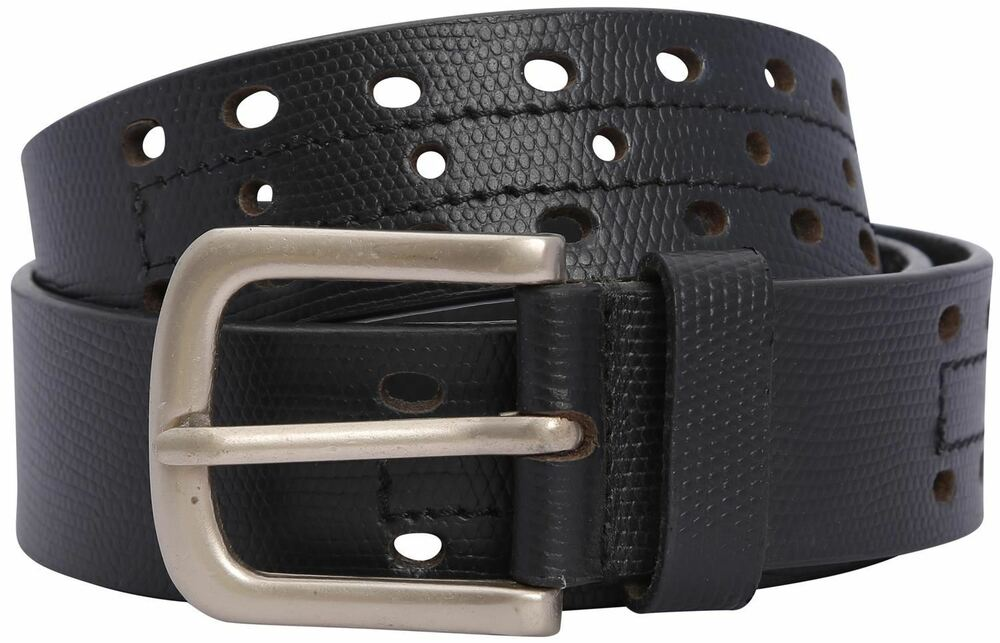 Belle Homme Perforé Multi Trou Design Cuir Pin Buckle Belts S-3xl Couleur Rapide
