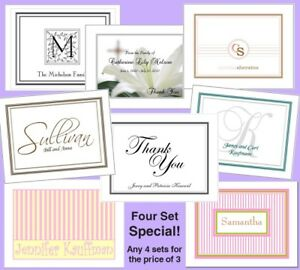 Details About 4 Sets For Price Of 3 Special 48 Personalized Note Cards