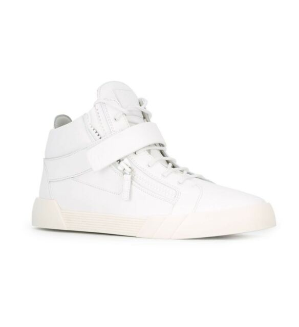 a71ab71cf394 Giuseppe Zanotti Shark 4.0 Red Leather Mid-top Double Zip SNEAKERS ...