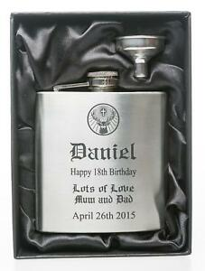 Personalised BIRTHDAY Jager Design Hip Flask in Gift Box For 18th/21st/30th<wbr/>/40th