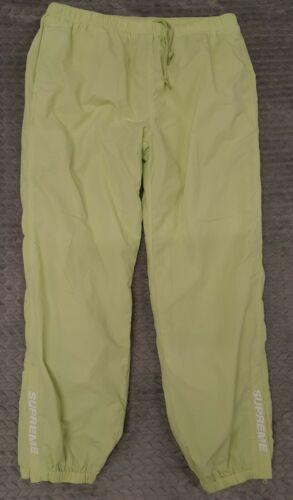 SUPREME WINDBREAKER PANTS Size XL Neon GREEN WHITE