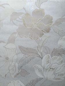 Vliestapete-Tapete-A-S-Creation-8190-24-Blume-beige-mit-gold