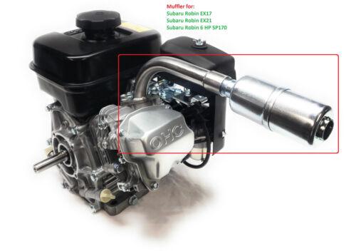 Subaru Robin EX17 Exhaust With Muffler for EX21,EX27 /& 6 HP SP170 EX13