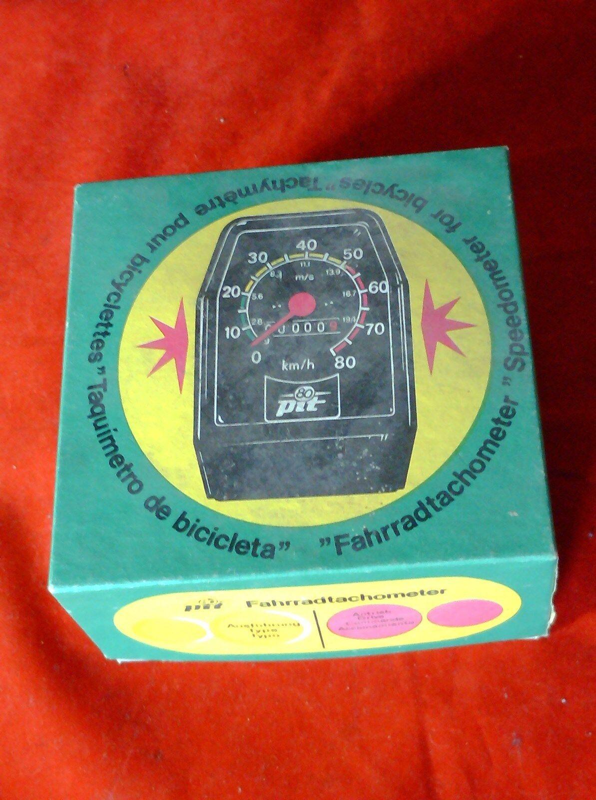 En  Caja de enmiendas PIT 27  Velocímetro Con Accesorios Y Cable, SPEEDO, década de 1980  bienvenido a comprar