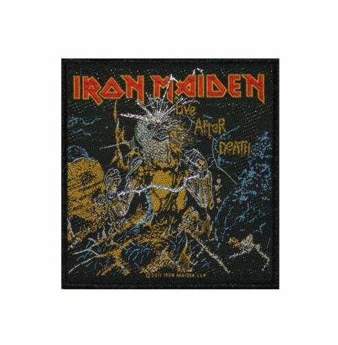 MUSIC BAND 2526 BRAND NEW LIVE AFTER DEATH WOVEN PATCH IRON MAIDEN