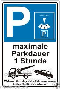 Bouclier- parking rainure avec horloge- parkschild- parking bouclier- panneau- p201-rkschild-Parkplatzschild-Hinweisschild- P201afficher le titre d`origine