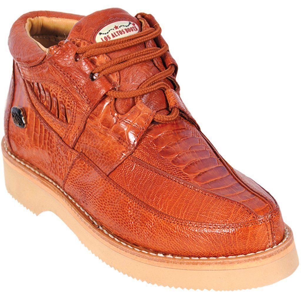 Los Altos Genuine COGNAC Ostrich Leg Casual shoes Lace Lace Lace Up D 4830bf