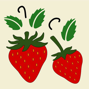 STRAWBERRY STENCIL STRAWBERRIES FRUIT FRUITS STENCILS TEMPLATE NEW 4 ...