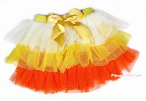 Baby Girl White Yellow Orange Tiered Layer Gauze Skirt Dance Tutu Dress 1-7Year