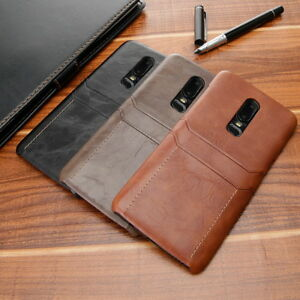 competitive price fa491 80d95 Details about For OnePlus 6 6T Ultra Thin Case Cover Leather Wallet Card  Slot Pocket Holder