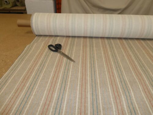 BRUSHED STRIPE NATURAL Wool //Tweed Effect Weave Upholstery Fabric NEXT FABRICS