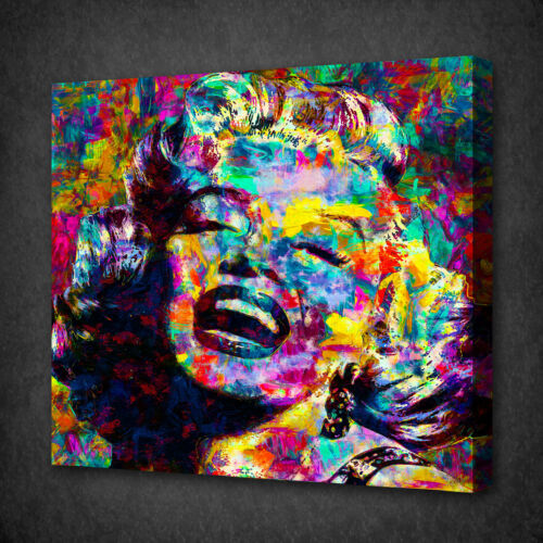 MARILYN MONROE ACRYLIC COLOURFUL WALL ART PICTURE CANVAS PRINT READY TO HANG